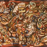 Composition with fishes. 1974