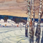 Birches at the road. 1960