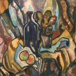 Still life with black bottle. 1975
