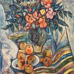 Still life with flowers and apples. 1973